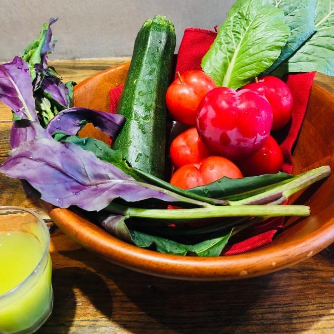 自家製野菜ジュース(月替わりサービス)
